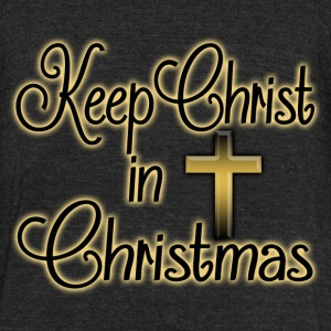 Keep Christ in Christmas T-Shirts - Unisex Tri-Blend T-Shirt by American Apparel
