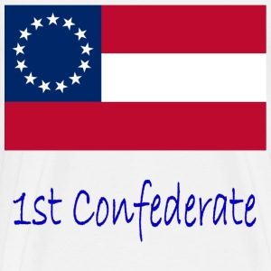 1st Confederate Flag And Name T-Shirts - Men's Premium T-Shirt