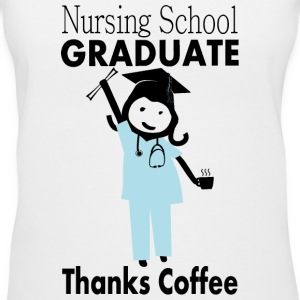 Nursing Student Graduate, Thanks Coffee Women's T-Shirts - Women's V-Neck T-Shirt