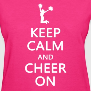 Keep Calm Cheerleader Women's T-Shirts - Women's T-Shirt