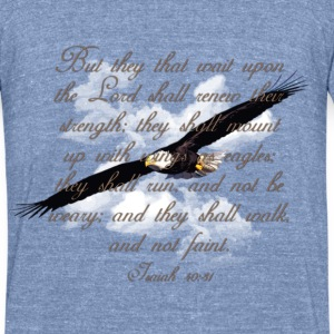 Wings as Eagle Christian T-Shirts - Unisex Tri-Blend T-Shirt