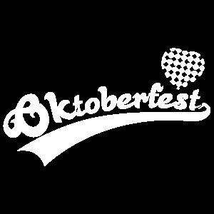 Oktoberfest with Blue White Bavaria Heart