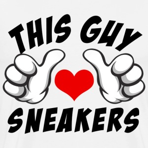 this guy loves sneakers T-Shirts - Men's Premium T-Shirt