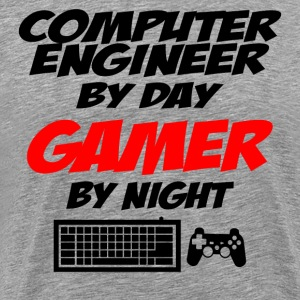 Computer Engineer By Day Gamer By Night - Men's Premium T-Shirt
