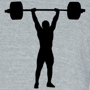 Weightlifter shirt - Unisex Tri-Blend T-Shirt by American Apparel