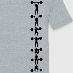 clean and jerk series - Unisex Tri-Blend T-Shirt by American Apparel