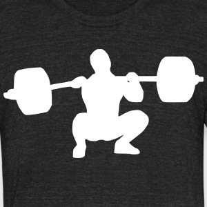 Weightlifter catching a clean - Unisex Tri-Blend T-Shirt by American Apparel