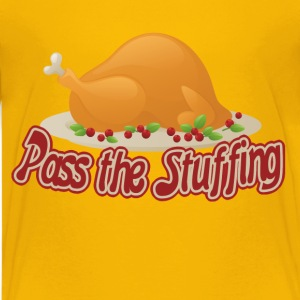 Pass the stuffing turkey thanksgiving humor - Kids' Premium T-Shirt