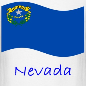 Waving Nevada Flag And Name T-Shirts - Men's T-Shirt