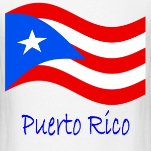 Waving Puerto Rico Flag And Name T-Shirts - Men's T-Shirt