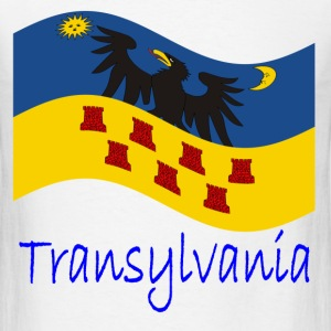 Waving Transylvania Historical Flag And Name T-Shirts - Men's T-Shirt