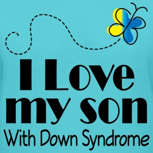 Down Syndrome Son Women's T-Shirts - Women's V-Neck T-Shirt