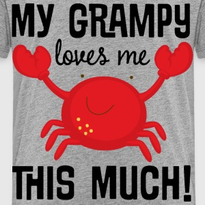 Grampy Loves Me crab Baby & Toddler Shirts - Toddler Premium T-Shirt
