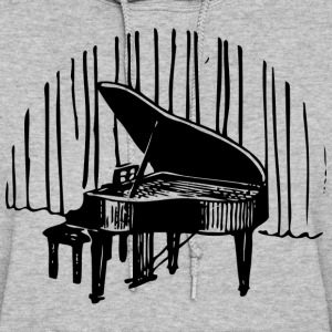 Piano in front of curtain Hoodies - Women's Hoodie
