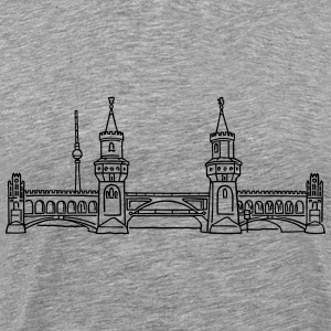 Oberbaum Bridge in Berlin T-Shirts - Men's Premium T-Shirt