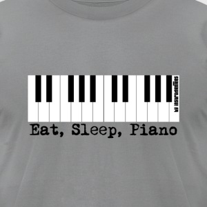 eat sleep piano T-Shirts - Men's T-Shirt by American Apparel