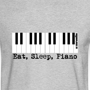 eat sleep piano Long Sleeve Shirts - Men's Long Sleeve T-Shirt