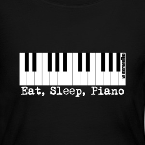 eat sleep piano Long Sleeve Shirts - Women's Long Sleeve Jersey T-Shirt