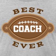 Design ~ Best Football Coach Ever Mens T-shirt