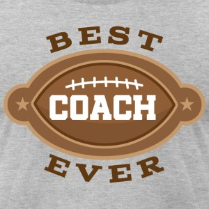 Best Football Coach Ever T-Shirts - Men's T-Shirt by American Apparel