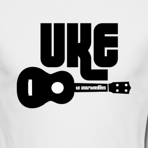 UKE with black Ukulele Long Sleeve Shirts - Men's Long Sleeve T-Shirt by Next Level