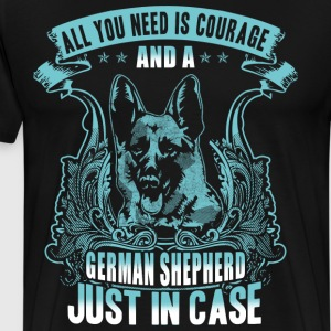 courage and a german shepherd - Men's Premium T-Shirt