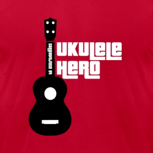 Ukulele Hero black and white  T-Shirts - Men's T-Shirt by American Apparel