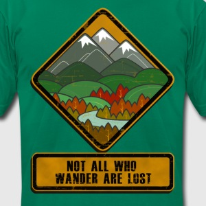 Wandering Sign T-Shirts - Men's T-Shirt by American Apparel