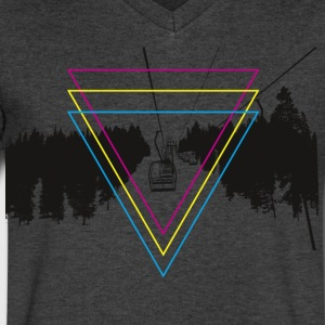 Lift - CMYK - Men's V-Neck T-Shirt by Canvas
