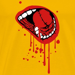 mouth screaming blood drop T-Shirts - Men's Premium T-Shirt