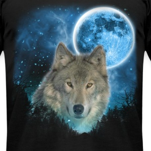 Grey Wolfs Skylight 3pxc T-Shirts - Men's T-Shirt by American Apparel