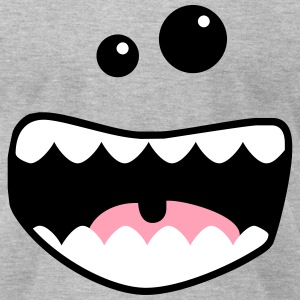 monster mouth T-Shirts - Men's T-Shirt by American Apparel