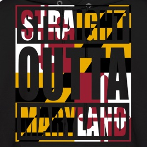 Straight Outta Maryland Flag Hoodies - Men's Hoodie