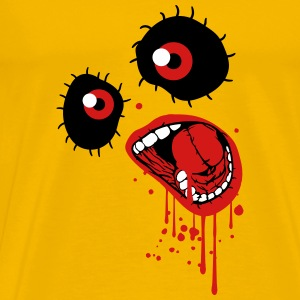 drop of blood screaming face T-Shirts - Men's Premium T-Shirt