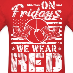 On Fridays We Wear Red - Men's T-Shirt