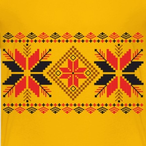 Folk Weave Pattern - Kids' Premium T-Shirt