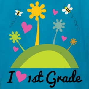 I Love 1st Grade school Kids' Shirts - Kids' T-Shirt