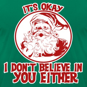 Santa Christmas humor - Men's T-Shirt by American Apparel