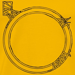 Odd Circle Frame - Men's Premium T-Shirt