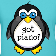 Design ~ Funny Piano Penguin Music T-shirt