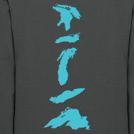 Design ~ Vertical Great Lakes (on back)