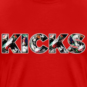 kicks art T-Shirts - Men's Premium T-Shirt
