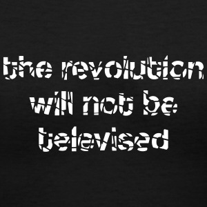 revolution televised Women's T-Shirts - Women's V-Neck T-Shirt