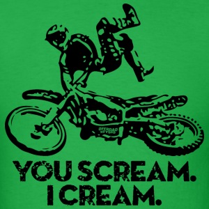 FMX Dirtbike Scream Cream T-Shirts - Men's T-Shirt