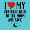 I Love My Grandchildren To The Moon And Back Women's T-Shirts - Women's V-Neck T-Shirt
