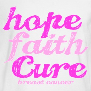 hope faith cure Long Sleeve Shirts - Men's Long Sleeve T-Shirt