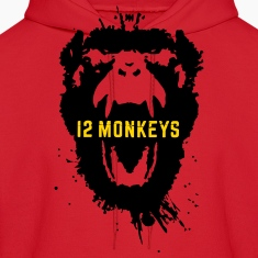 12 Monkeys Scream Stencil Tv Series 2015 Hoodies