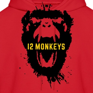 12 Monkeys Scream Stencil Tv Series 2015 Hoodies - Men's Hoodie