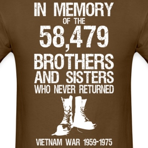 In Memory Of The 58,479 Brothers And Sisters  - Men's T-Shirt