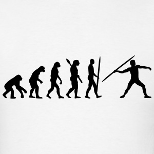Evolution Javelin throw T-Shirts - Men's T-Shirt